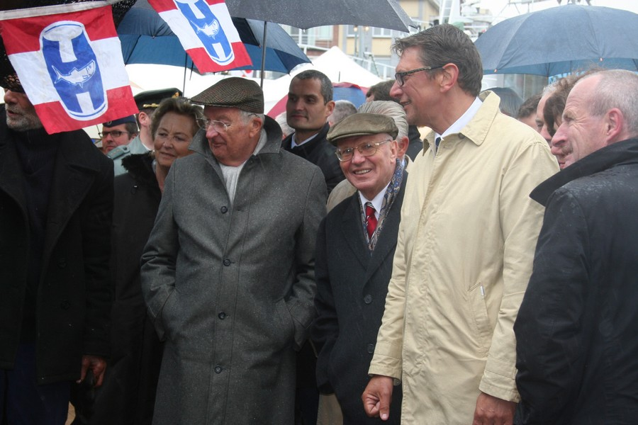 Le Roi Albert II lors d'Ostende à l'Ancre 2013. c: Robert Genicot